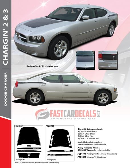 2010 Dodge Charger SXT Decals CHARGIN 2 2006 2007 2008 2009 2010