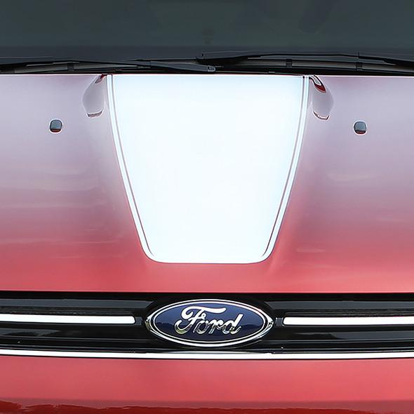 close up Ford Escape Hood Stripes CAPTURE HOOD 2013-2016