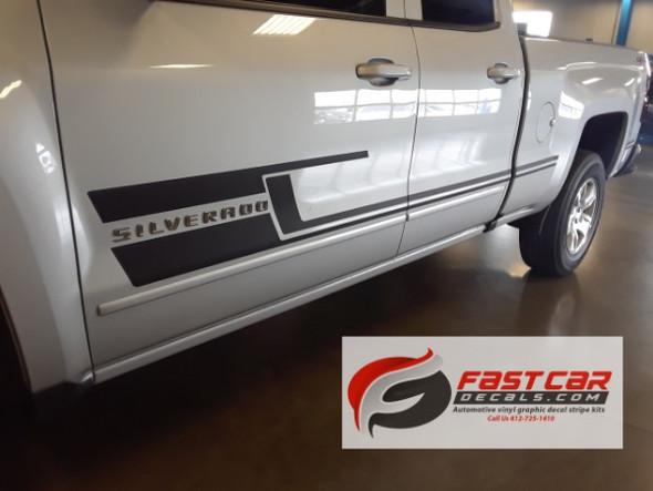 door view of 2017 Chevy Silverado Bed Decals SHADOW 2013-2015 2016 2017 2018