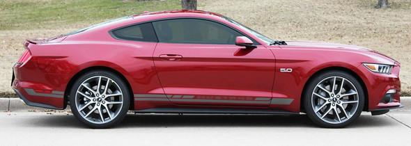 profile for Ford Mustang Rocker Panel Door Side Stripes Decals HASTE 2015-2018