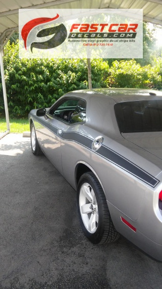 side of 2019 Dodge Challenger Side Decals CLASSIC TRACK 2008-2021