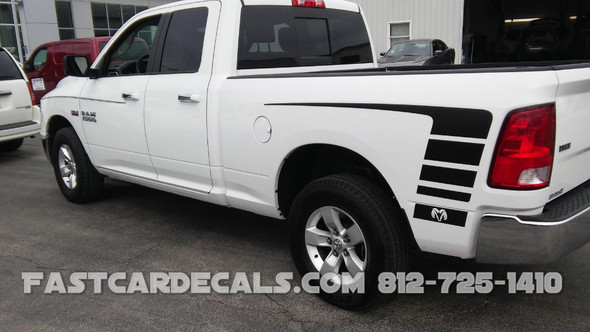 side view of Ram 1500 Power Decals POWER TRUCK KIT 2009-2018