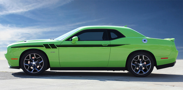 profile 2020 Dodge Challenger Custom Stripe Decals FURY 2011-2019 2020 2021