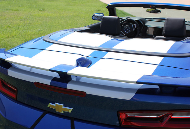 trunk of Chevy Camaro Convertible Wide Stripes CAM SPORT PIN 2016-2018