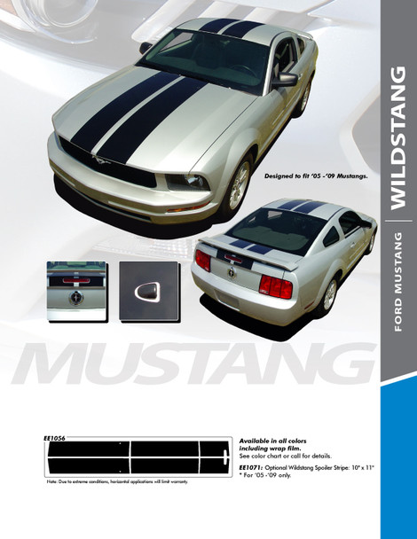 flyer for 2005-2009 Ford Mustang Dual Racing Stripes 3M WILDSTANG KIT