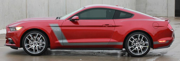 side of red 2016 Ford Mustang Stripes STELLAR 2015 2016 2017