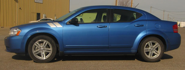 profile Dodge Avenger Vinyl Graphics DOUBLE BAR 3M 2008-2013 2014