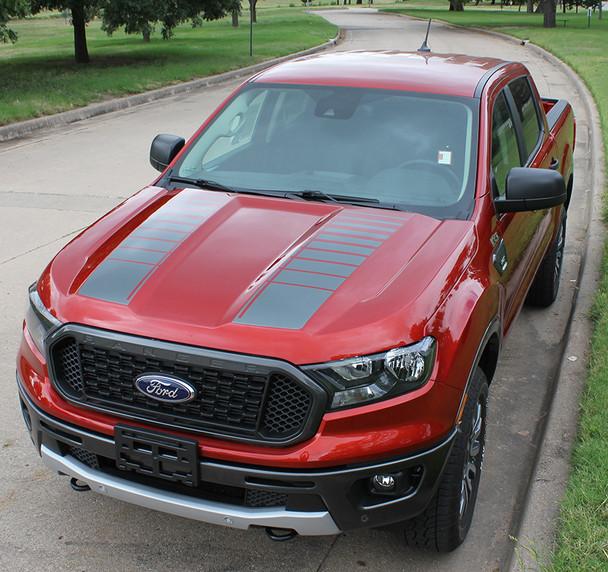 2019 Ford Ranger Hood Strobe Stripes NOMAD HOOD 2019-2021