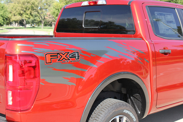 close up of 2019 Ford Ranger Bed Side Graphics GUARDIAN 2019-2020