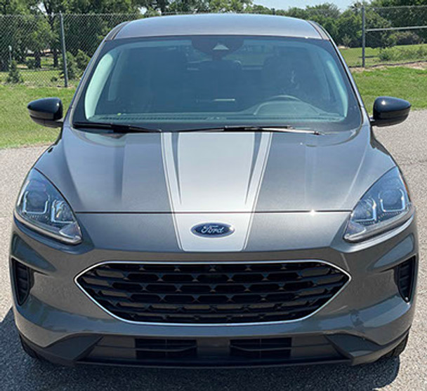 front view of our NEW! 2021 Ford Escape Hood Stripe SABRE HOOD 2020-2021