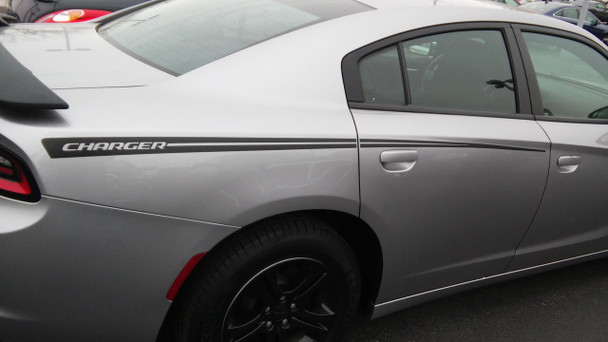 rear side view of 2015 Dodge Charger Stripes RIVE 2015 2016 2017 2018 2019 2020 2021