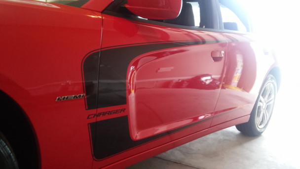 side of 2013 Dodge Charger RT Decals Body Kit C STRIPE 2011 2012 2013 2014 Call Us 812-725-1410