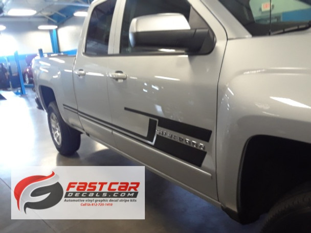 2 BEST! Chevy Silverado Side Decals and Stickers SHADOW 2013-2018 Call Us 812-725-1410
