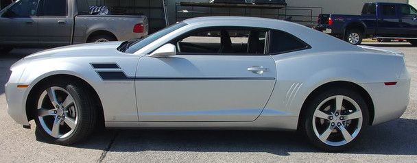 profile view 2010-2015 Chevy Camaro Mid Body Line Rally Stripes SPEED
