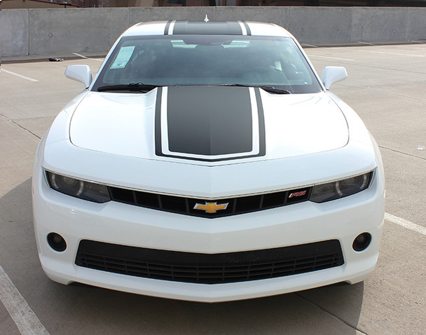 front view of 2015 Chevy Camaro Wide Center Decals Graphics BEE 3 2014-2015