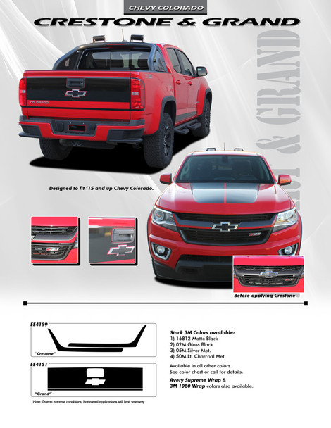 flyer for Chevy Colorado Front Stripes CRESTONE GRILL 2015 2016 2017 2018 2019 2020 2021