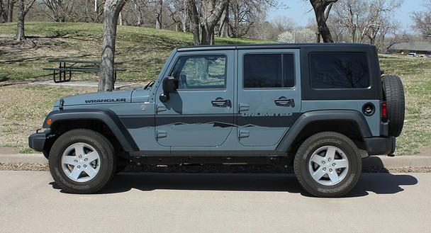 side view 2017 Jeep Wrangler Side Graphics TREK 2008-2015 2016 2017