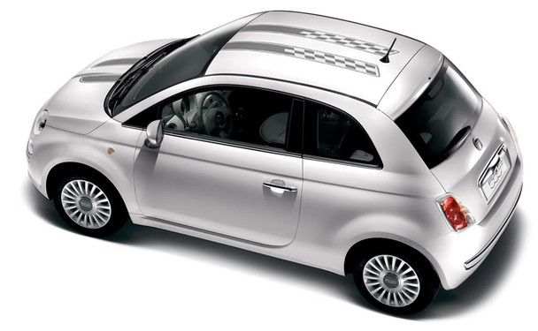 profile Fiat 500 Hood and Roof Stripes CHECKERED RALLY 2012-2018