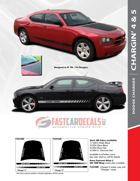 sales info for 2009 Dodge Charger Rocker Stripes CHARGIN 5 2006-2010