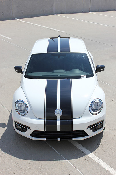 front of VW Beetle Racing Stripes BEETLE RALLY 3M 2012-2016 2017 2018