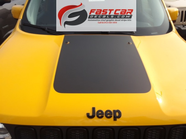 front of yellow Hood Stripes for Jeep Renegade RENEGADE HOOD 2014-2020