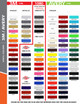 """3M 1080 color chart for 10"""" Inch SOLID Wide Pin Stripe Auto Tape Decal Roll 150' Long"""