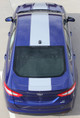 rear view of 2013-2018 Ford Fusion Center Hood Wide Stripes OVERVIEW RALLY