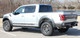 rear angle of 2019 Ford F150 Raptor Decals VELOCITOR ROCKER 2018-2020