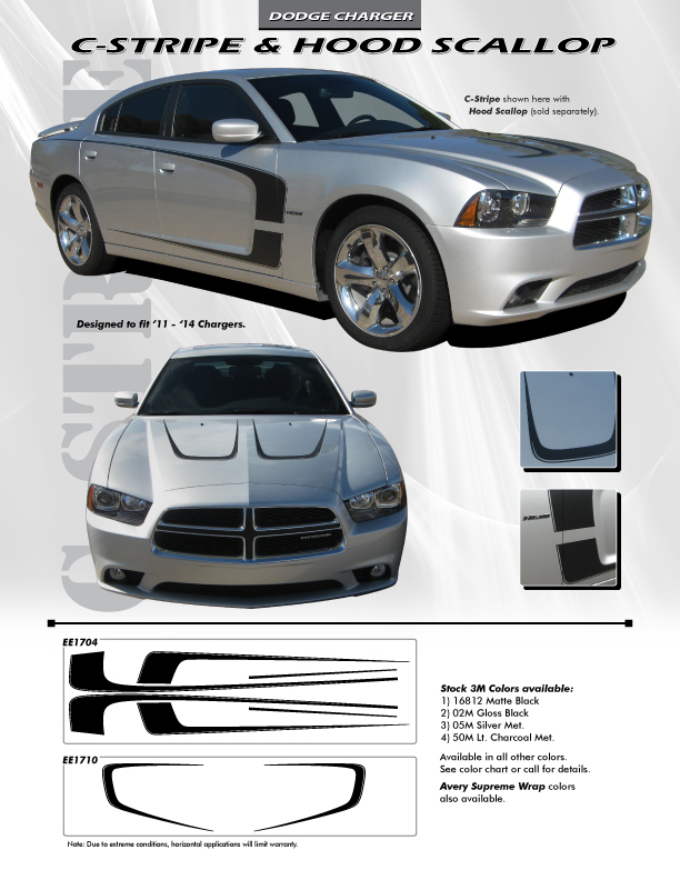 2013 Dodge Charger Decals Body Kit C STRIPE 2011 2012 2013 2014