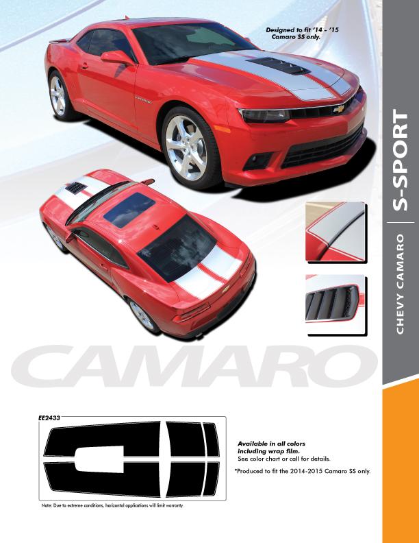 2014 Super Sport Camaro Racing Stripes S-SPORT PACKAGE 2014-2015