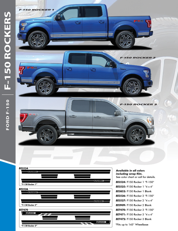 2021 Ford F150 Decals 15 150 ROCKER 1 2015 2016 2017 2018 2019 2020