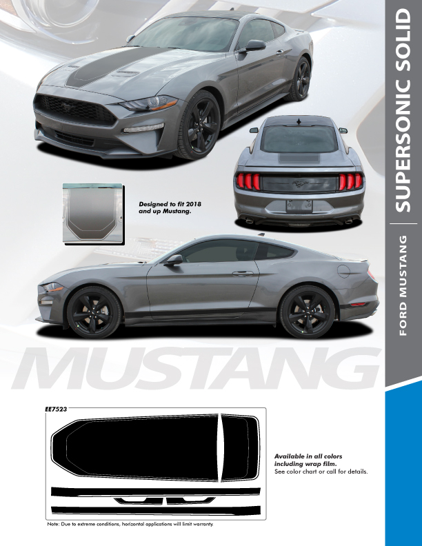 2021 Ford Mustang Stripes SUPERSONIC KIT SOLID 2018 2019 2020 2021