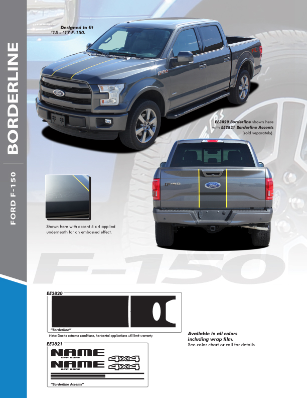 2017 Ford F150 Truck Top Graphics BORDELINE 2015 2016 2017