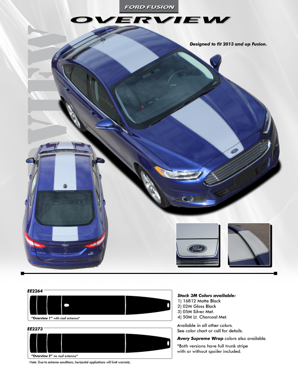 2018 Ford Fusion Center Wide Stripes 2013-2018 OVERVIEW RALLY