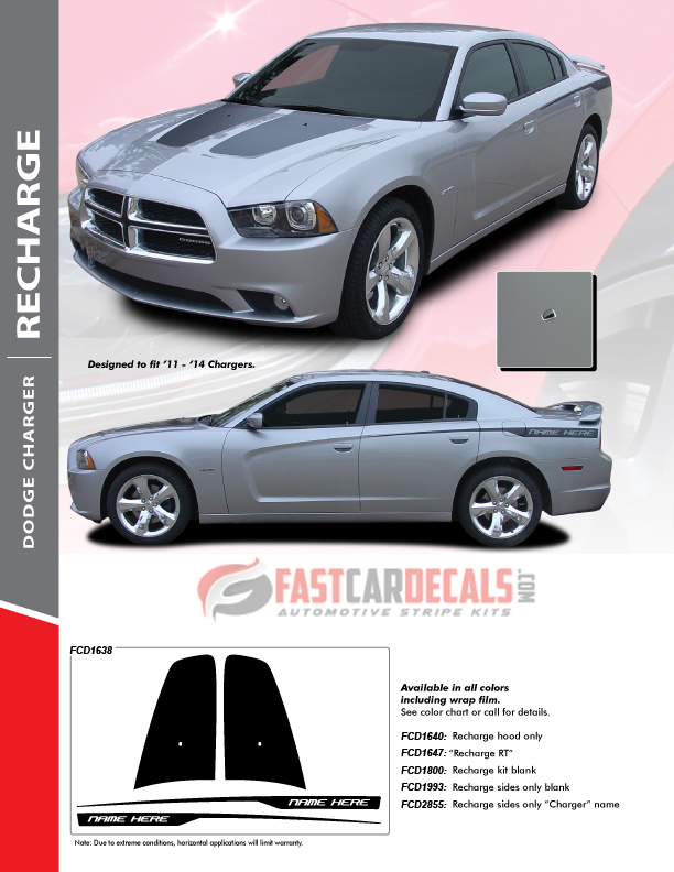 2014 Dodge Charger Decals RECHARGE 2011 2012 2013 2014