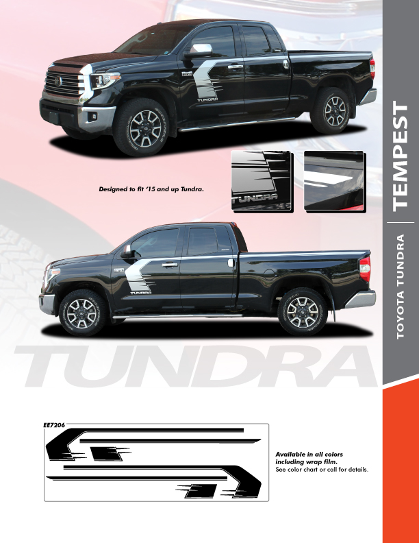 2019 Toyota Tundra Side Stripes TEMPEST 2015-2018 2019 2020 2021