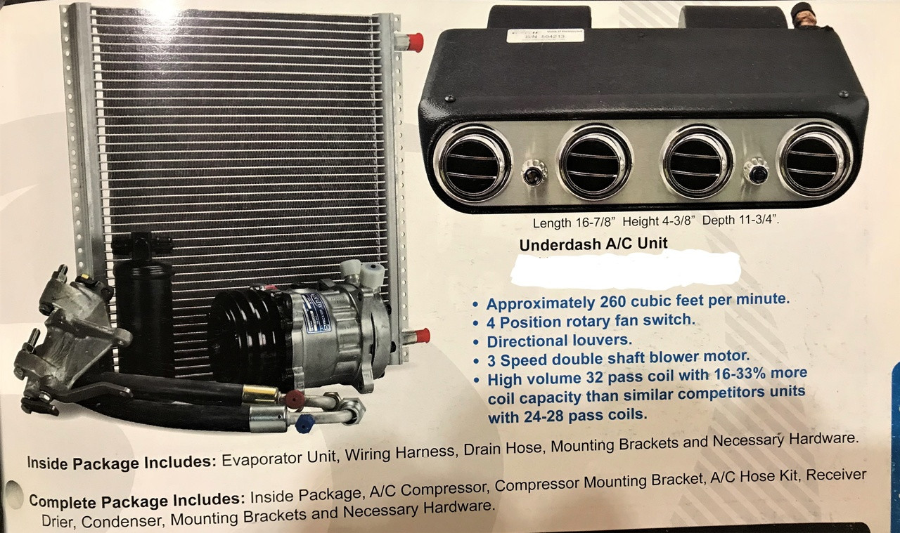 Mustang A//C Condenser /& Drier Kit 1967-1968
