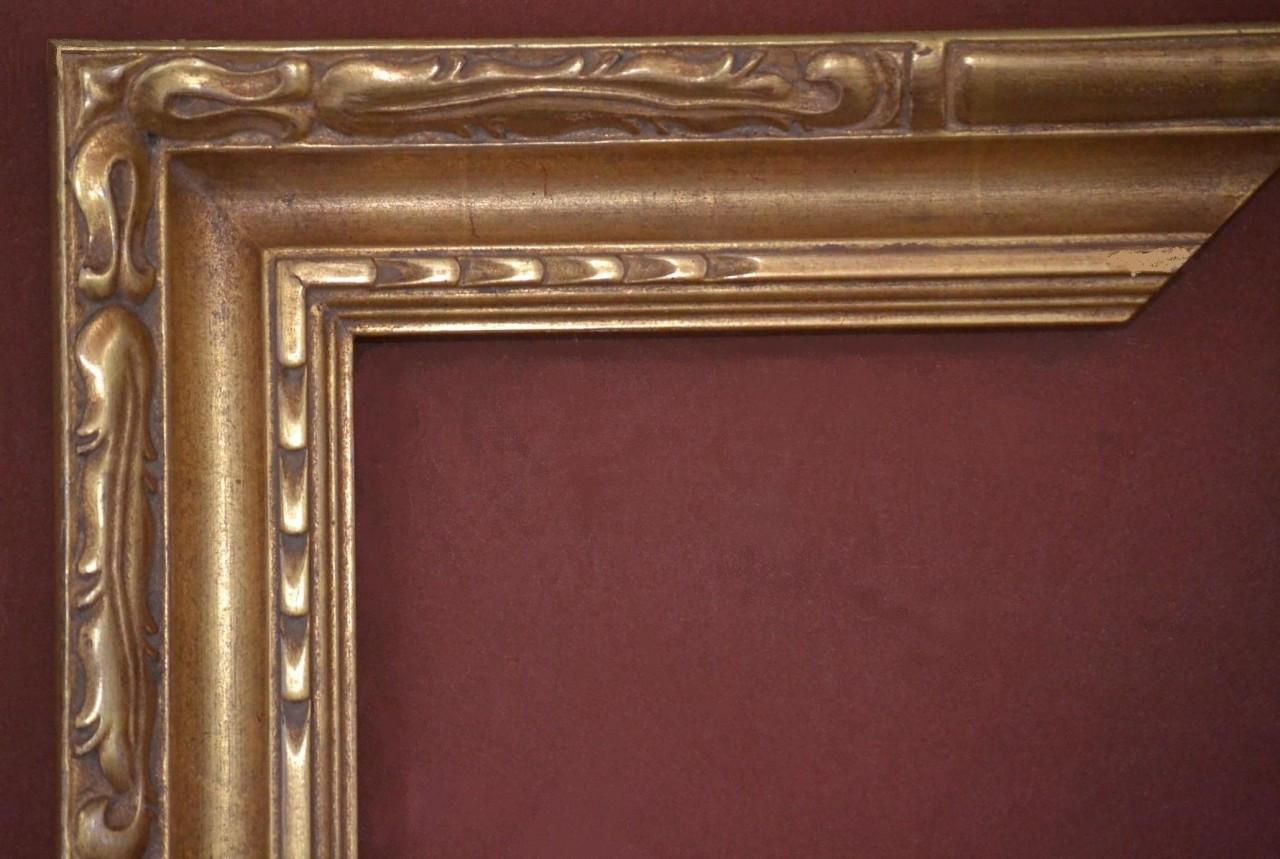 Custom Hand Carved Picture Frame Plein Air 22 Karat Gold Leaf 3 1