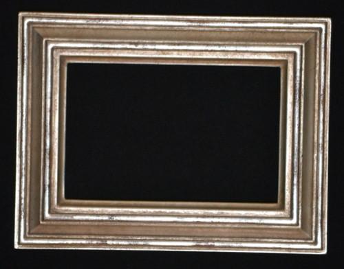 """FMOO79  -   12 Karat Genuine gold Leafed Frame - 1 1/4"""" Wide Moulding  Art size : 4""""  X  6""""  Frame outside dimension : 6 1/4""""  X 8 1/4"""""""
