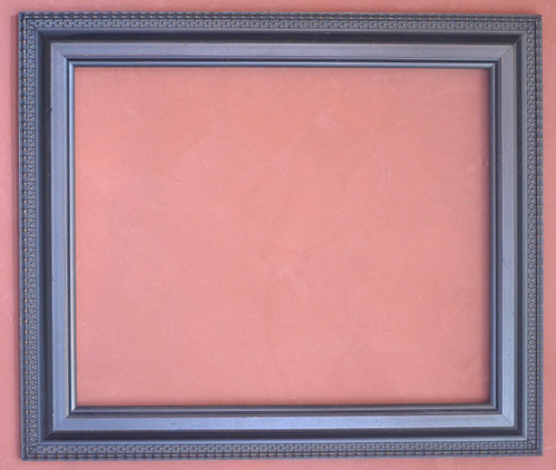 """FMOO83  -   Wood Frame - Dark Brown Stain Finish - 4"""" Wide Moulding  Art size : 23 1/2""""  X  28 1/2""""  Frame outside dimension : 31""""  X 36"""""""
