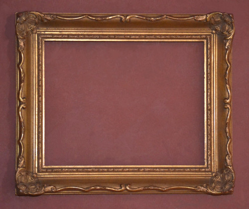 "FM 253 - Gold Metal Leaf Z Tone, 2 3/8"" Width X 1 3/8"" Hight Image shows a 11""  x  14"" ( art size ) Frame"