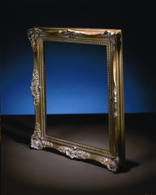 "FM 312 - Gold Metal Leaf F - LT  Tone, 2 7/8"" Width X 1 3/4"" Hight The Frame in this image is 16""  x  20"" (Art Size)"