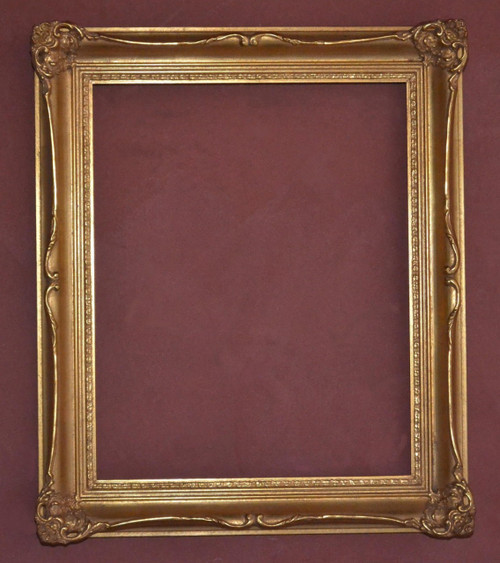 "FM 314 - Gold Metal Leaf LT - LT  Tone, 2 7/8"" Width X 1 3/4"" Hight The Frame in this Image is 16""  x  20"" (Art Size)"