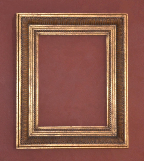 "FM 353 - Gold Metal Leaf F Tone, 3 3/4"" Width X 1 7/8"" Hight  The Frame in this Image is 12""  x  16"" (Art Size)"
