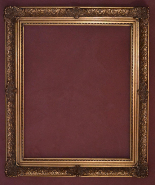 "FM 402 - Gold Metal Leaf Antique Tone, 4 1/8"" Width X  1 7/8"" Hight  The Frame in this Image is 24""  x  30"" (Art Size)"
