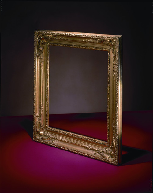 "FM 405 - Gold Metal Leaf WW Tone, 4 3/8"" Width X  2 1/4"" Hight  The Frame in this Image is 20""  x  24"" (Art Size)"