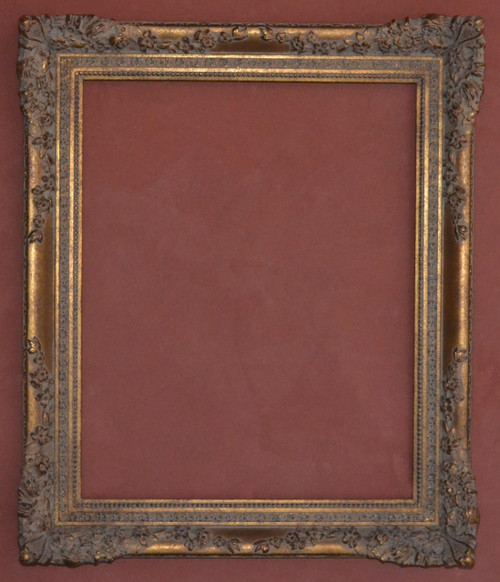 "FM 452 - Gold Metal Leaf M Tone, 4 1/8"" Width X  1 7/8"" Hight  The Frame in this Image is 24""  x  30"" (Art Size)"