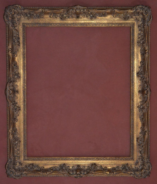 "FM 456 - Gold Metal Leaf M Tone, Show Black & Red , 4 1/8"" Width X  1 7/8"" Hight  The Frame in this Image is 24""  x  30"" (Art Size)"