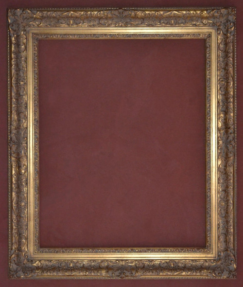 "FM 460 - Gold Metal Leaf F LT Tone, 3 3/8"" Width  X  2"" hight  The Frame in this Image is 24""  x  30"" (Art Size)"