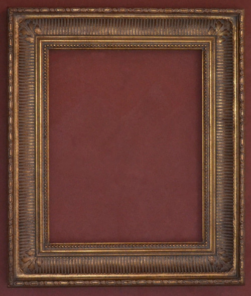 "FM 601 - Gold Metal Leaf F Tone, 4 1/8"" Width  X  2 3/4"" Hight  The Frame in this Image is 16""  x  20"" (Art Size)"